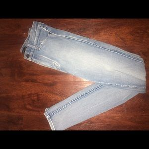 Abercrombie and Fitch light colored jeans